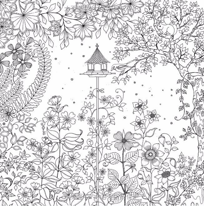 ᐂJardín Secreto, jardín secreto libro, libros para colorear para ...