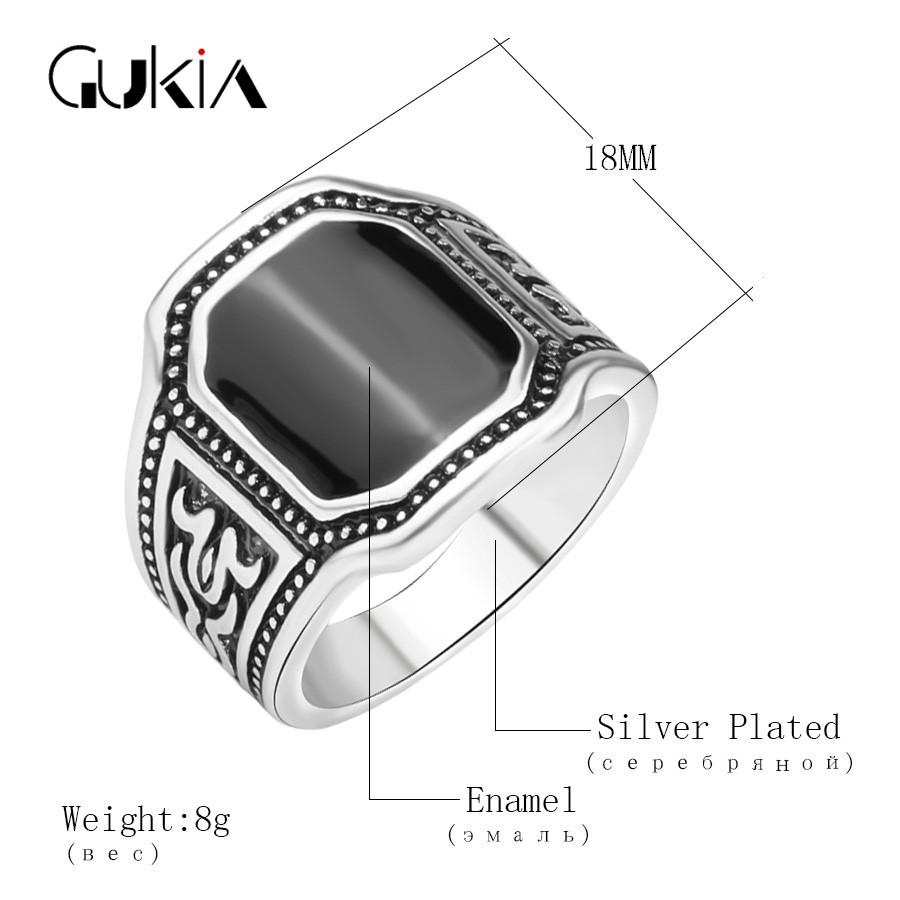 cff11ce47bfd ツ)  ¯Gukin 2016 nuevo anillo antiguo punky único plata chapado ...
