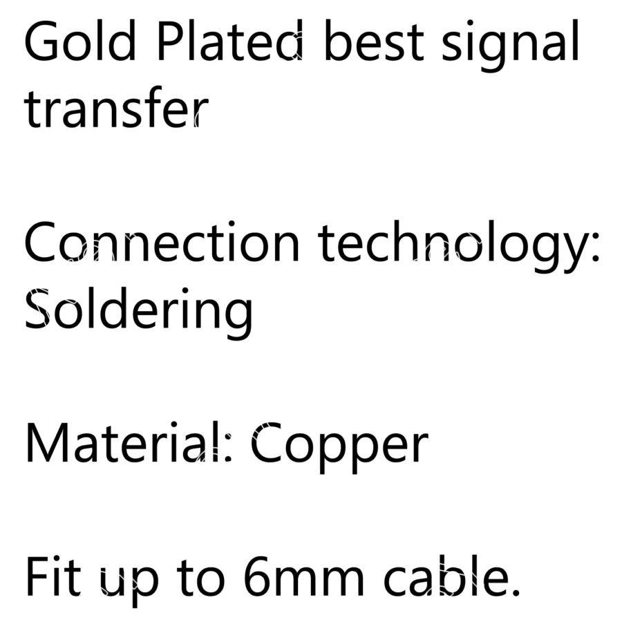 ヾ(^ ^)ノSale 2PCS Gold Plated ᗔ Copper Copper 3.5mm Mini