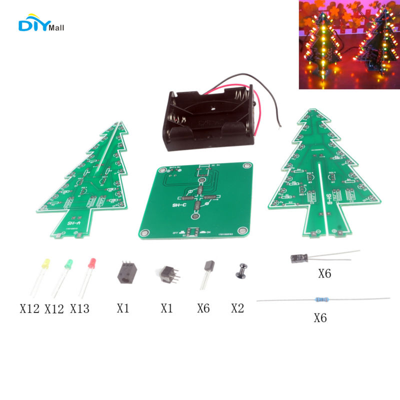 Card Christmas Tree Led Circuit Likewise Led Light Flasher Circuit