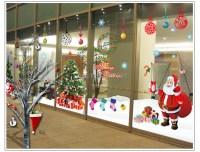 Large glass windows home decoration Christmas Santa and ...