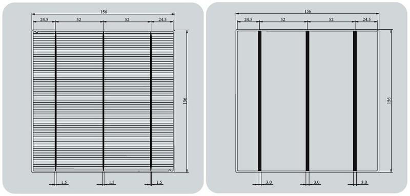 5mm Espesor SI 240um 40um 200um 180um 30um Peso 12 0 5g Frente 15mm Barras De Plata Nitruro Silicio Azul Espalda 3mm Aluminio