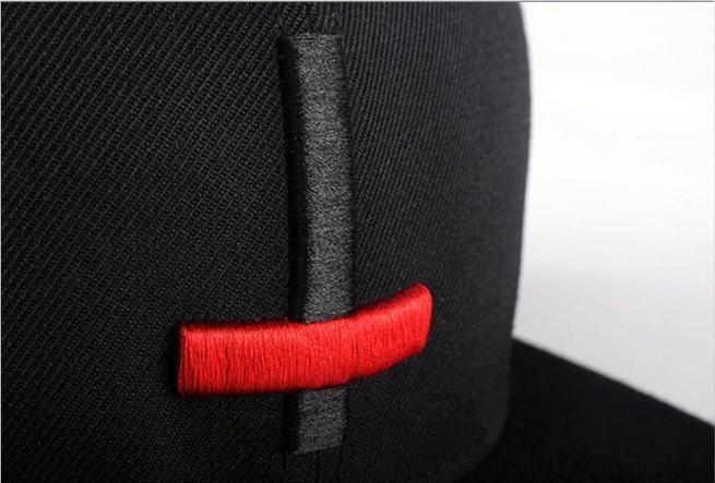 8358d9582e4e1 2017 New Brand Street Dance Cool Hip Hop Caps Embroidery Black Red Cross  Snapback Snap Back Men Baseball Caps Hats Bone Hat