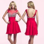Sexy Short Backless Homecoming Dress