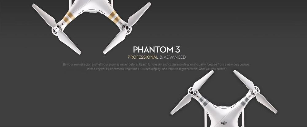 החדש Dji פנטום 3 מקצועי מתקדם