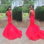 African Mermaid Prom Dress