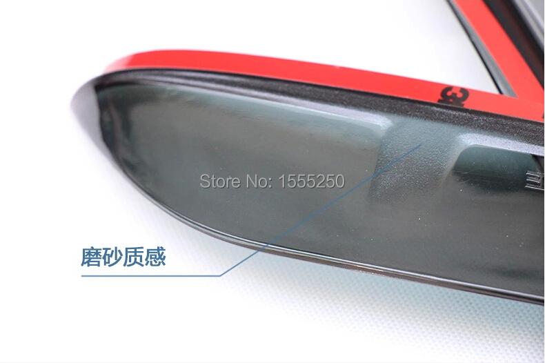 Deflecteurs protection de pluie noir pour rétroviseur casquette de retro