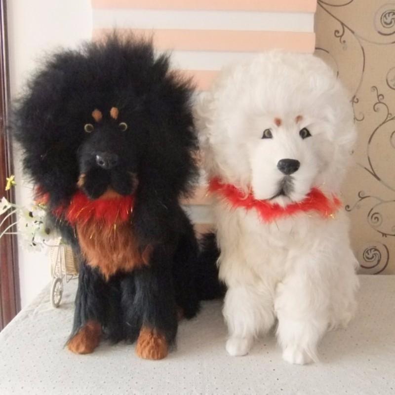 NºGran simulación Mastín Tibetano perro polietileno y pieles negro ...