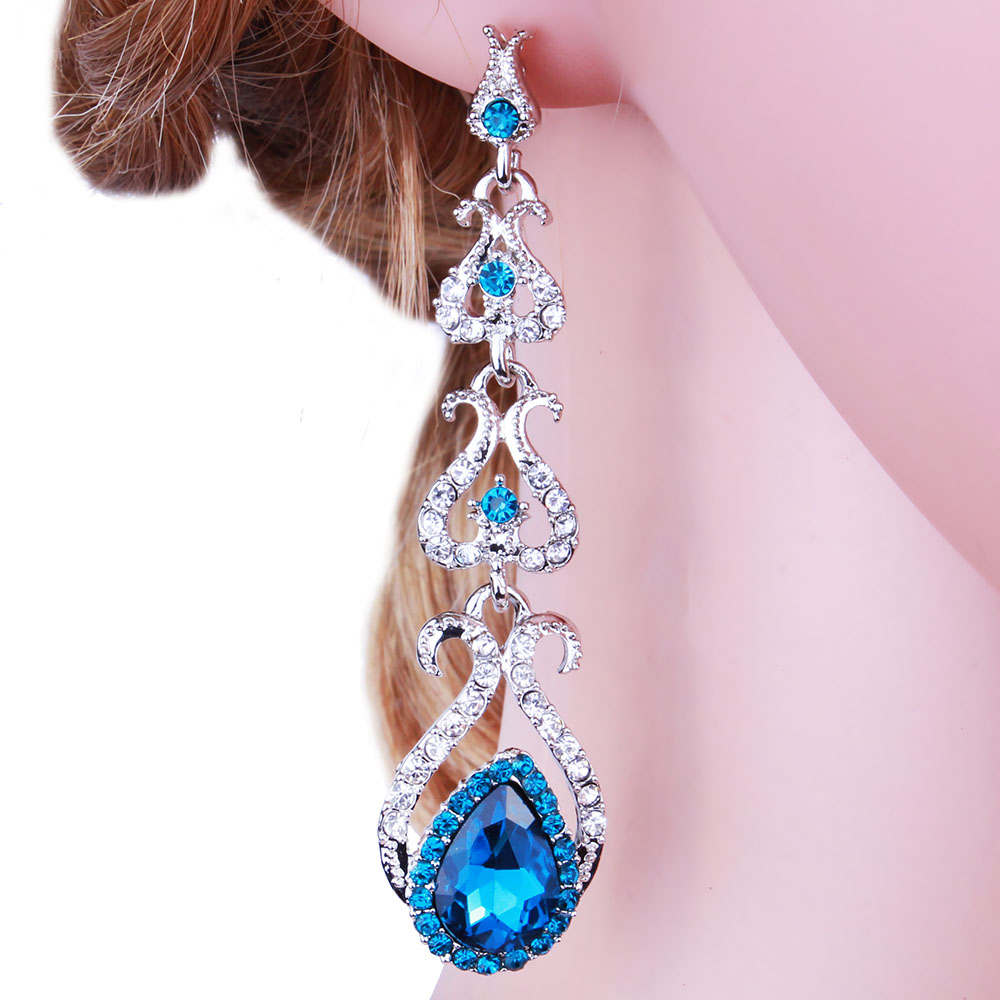 ツ)_/¯Farlena nueva moda mujeres joyería de la boda rosa de cristal ...
