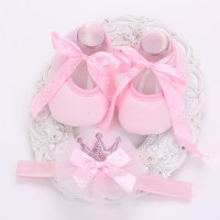 Pink Baby Booties Background
