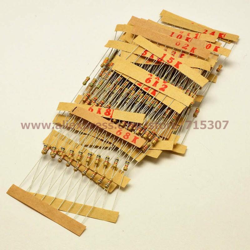 aae14507cfd6f ᗑ PHISCALE metal film resistor assortis kit 4.7 k ohm-68 k ohm 1 4 ...