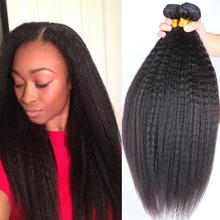 """Brazilian Virgin Hair Straight Coarse Yaki 3 Pcs/Lot Brazilian Hair Weave Bundles Italian Yaki 10""""-30"""" Kinky Straight Human Hair(China (Mainland))"""