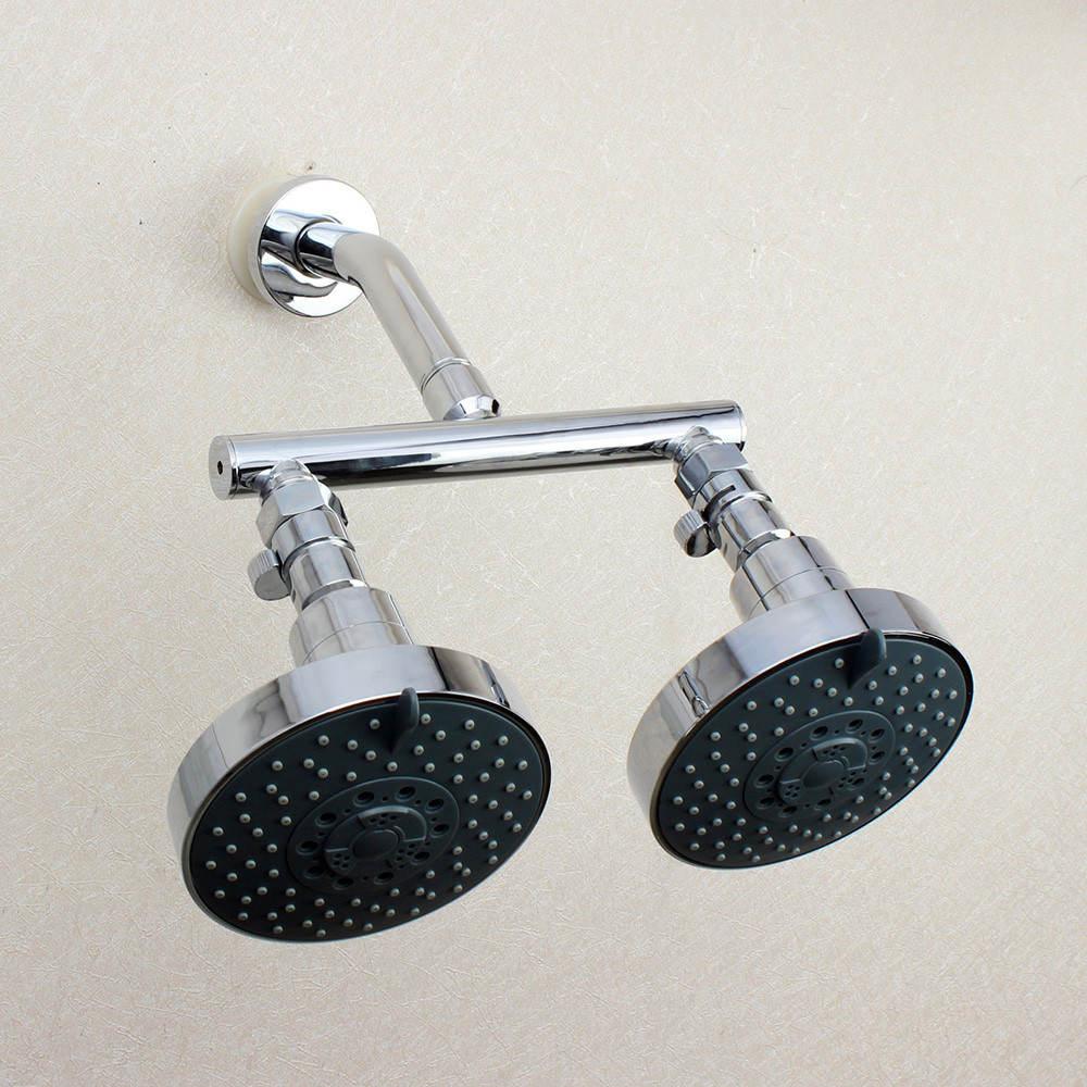 ツ)_/¯Dual Shower Head Manifold Tube Shower Arm With Fixed ...