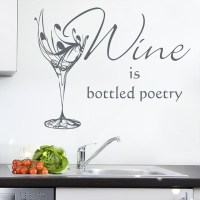 Wine Glass Kitchen Sticker Personalised Wall Sticker