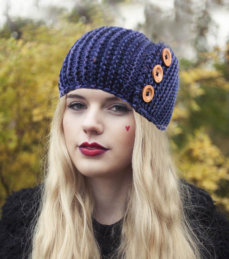 2015 New Winter Bohemian Button Womens Knitted Headwrap Knit Wool