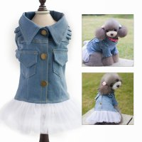 Cheap Dog Clothes For Small Dogs Pet Dog Jeans Coat Puppy