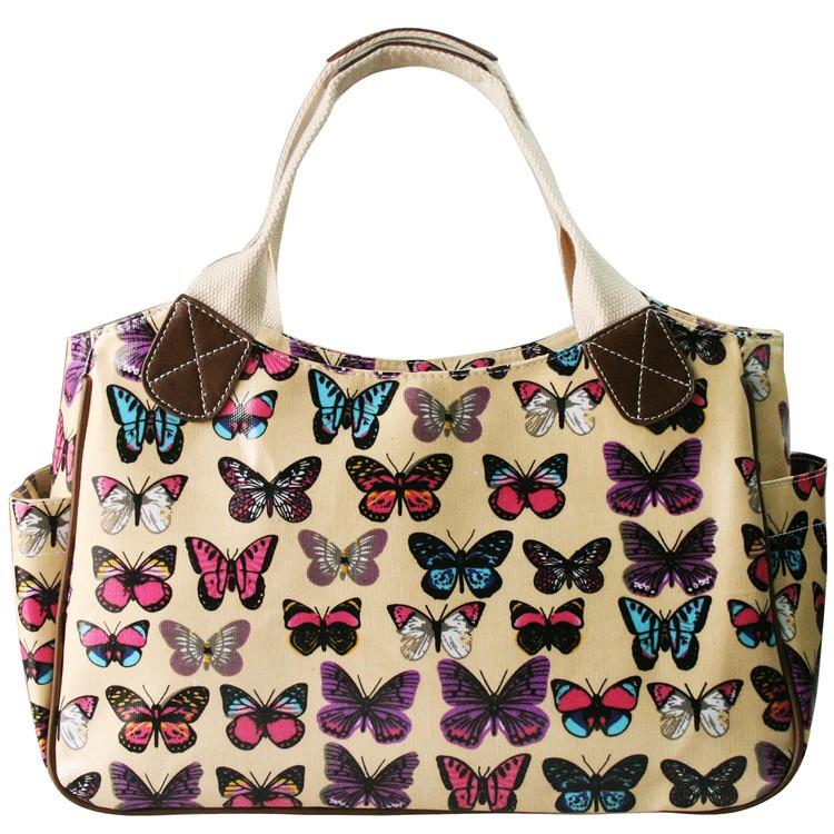 ff10a2d0b Moda bolsos de las mujeres bolso de viaje bolsa de color a juego mariposa  bolsos famosos 5 tipos de color oilcloth material