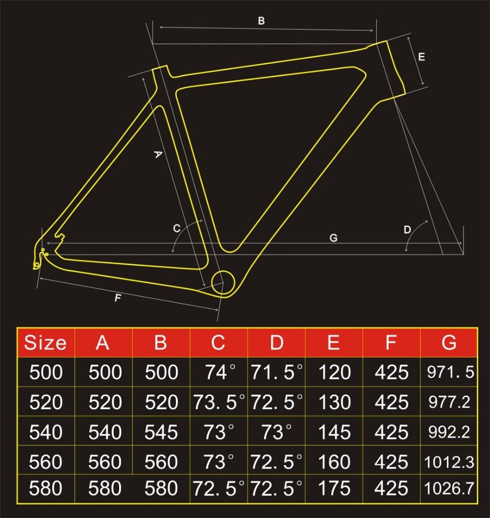 Productos OEM Di2 Disco-freno Cyclocross del Carbón Marco de la Bici ...