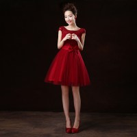 Short Dark Red Bridesmaid Dresses - Wedding Dresses In Jax