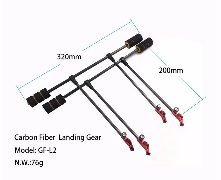 ᐃFPV drone quadcopter H4 Alien 450/680 carbono puro plegable marco ...