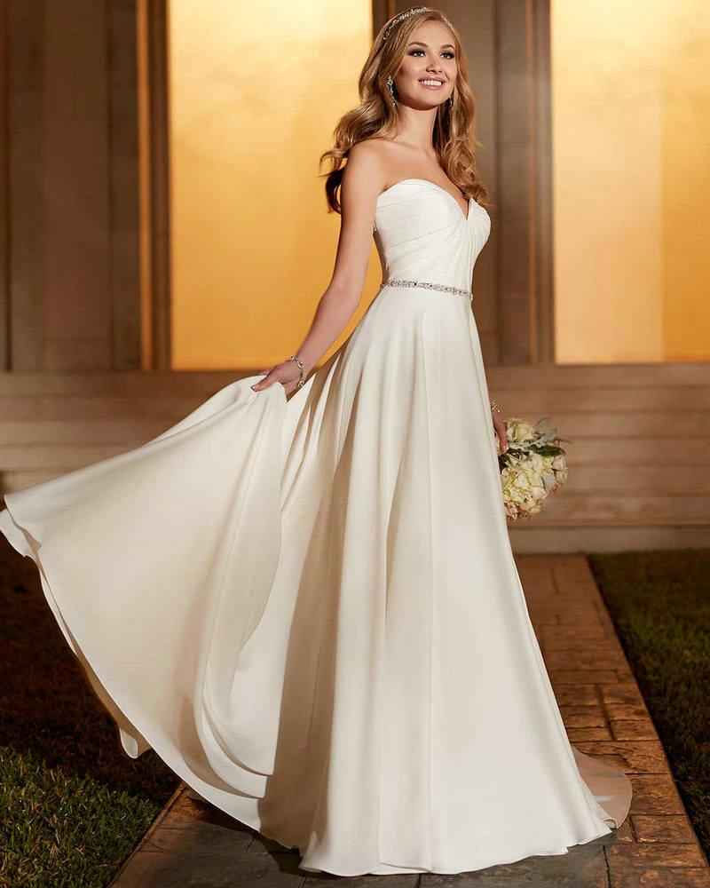 Casual Wedding Dress Taffeta Ivory Empire Bridal Party