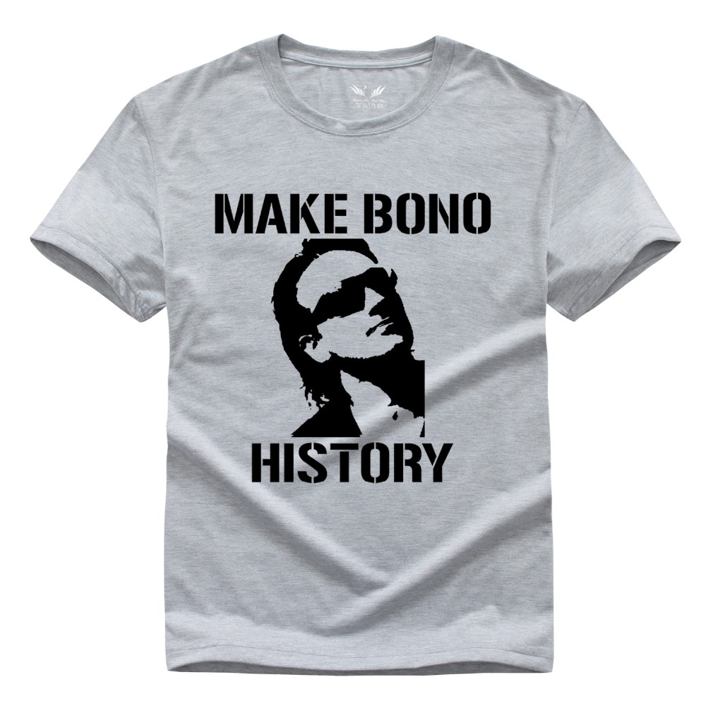 ᗜ LjഃBanda de rock U2 camiseta bono camiseta hombres y mujeres ...