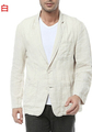 Single breasted loose thin slim fit blazer men suit linen jacket summer male jacket new design