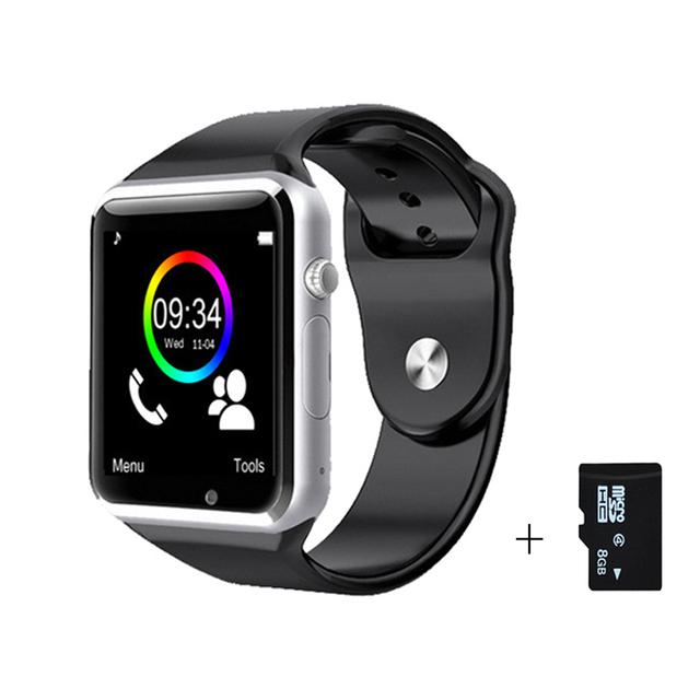 Бесплатная доставка Наручные Часы Bluetooth Smart Watch Спорт Шагомер С СИМ Камеры Smartwatch Для Android Смартфон с Русским