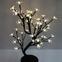 110/220V New LED crystal cherry blossom tree Lamp Night
