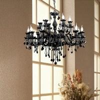 modern black chandelier k9 crystal chandelier led luxury ...