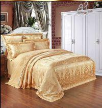 Home-Textile-Bedding-Set-Luxury-6pcs-Gold-Beige-Blue ...