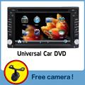 100 New universal Car Radio Double 2 din Car DVD Player GPS Navigation In dash Car