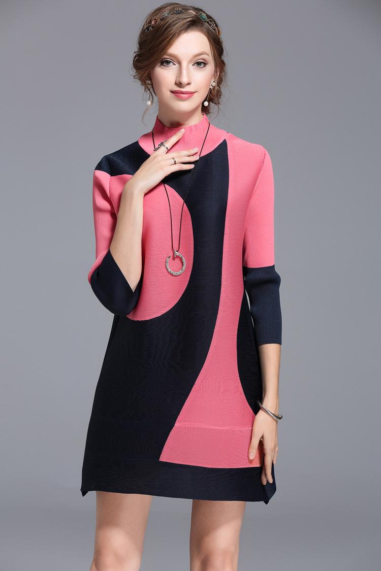 ①Mujeres Crimp nuevo turtleneck moda mediana edad de gran tamaño ...