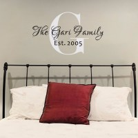Family Name Monogram Wall Decal Personalized Family Name ...
