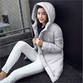 2016 winter new Korean version of Slim thin fat girl big yards long down padded jacket