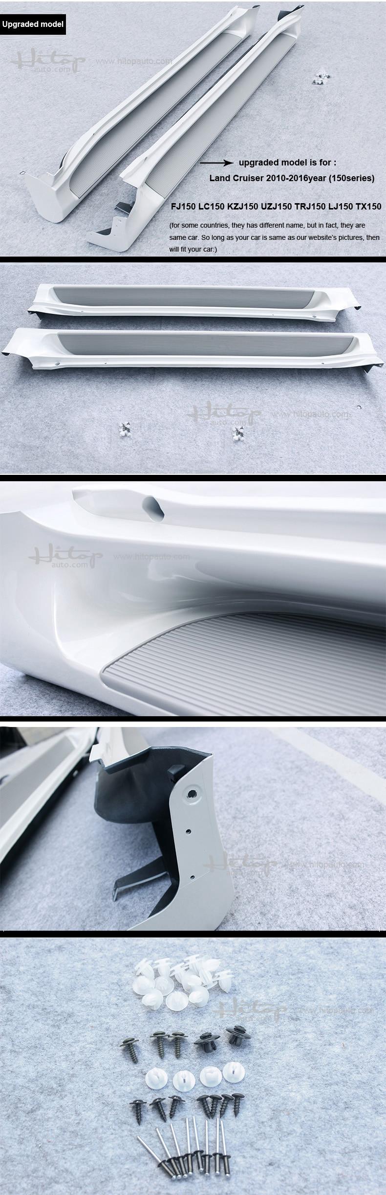 ᑎ‰Barra del nerf del paso lateral estribo para Toyota Land Cruiser ...
