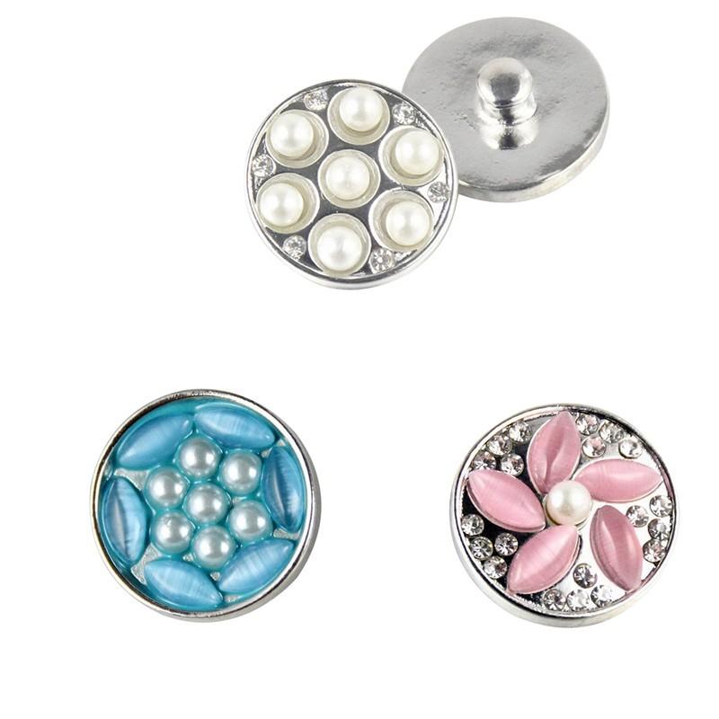 2016new bricolage bijoux accessoire perle visage boutons Snap Fit 20 ... c7db8046288