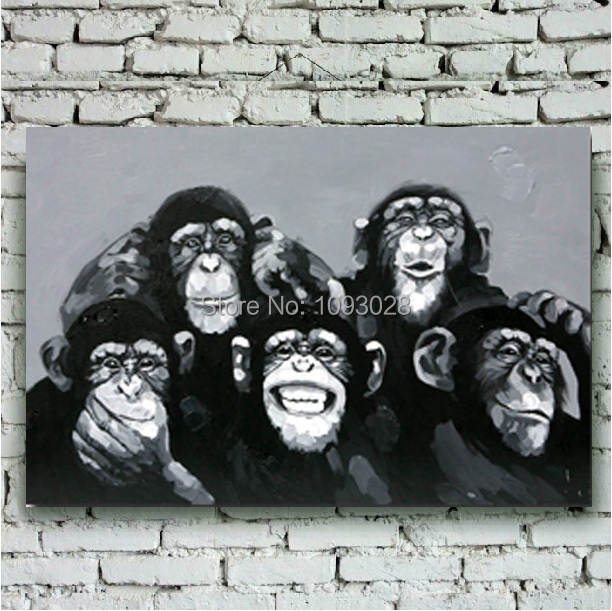 っ100% pintado a mano envío libre bar cuelga imagen gorila blanco y ...