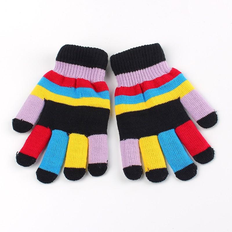 Sunenjoy1 paire Mignon /Épais Chaud Gants Enfant Hiver Gants B/éb/é Filles Tricoter Gants Mitaines Avec String