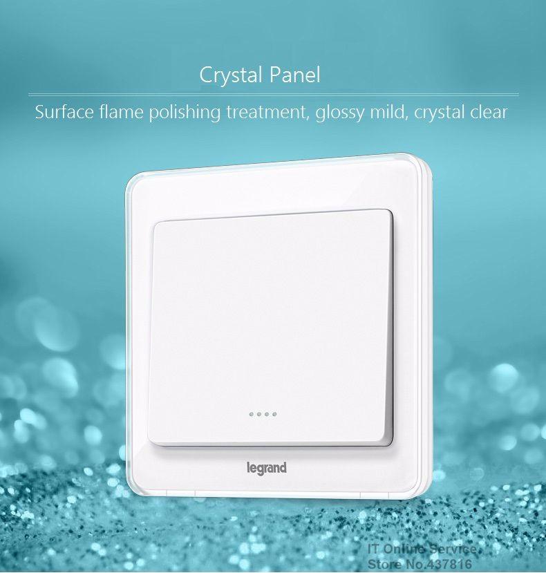 ᗜ LjഃCrystal White 1 Gang 1 Way , 1 Gang 2 Way Wall Switch Crystal ...