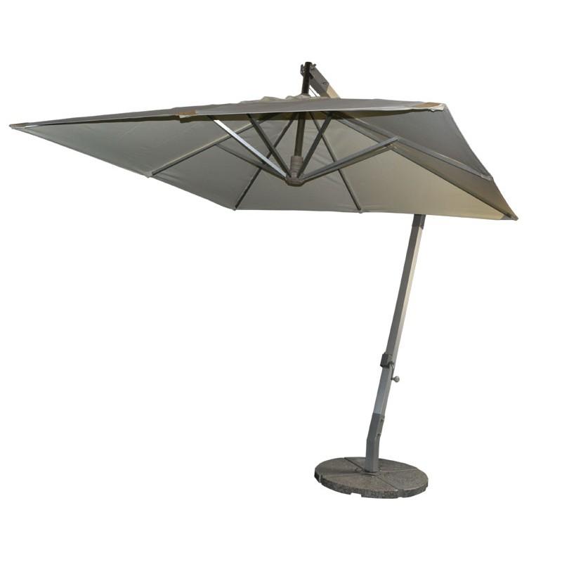 Small square aluminum hanging umbrella Celi outdoor patio