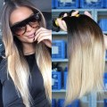 Ombre hair extensions three tone 1b 4 27 malaysian virgin hair
