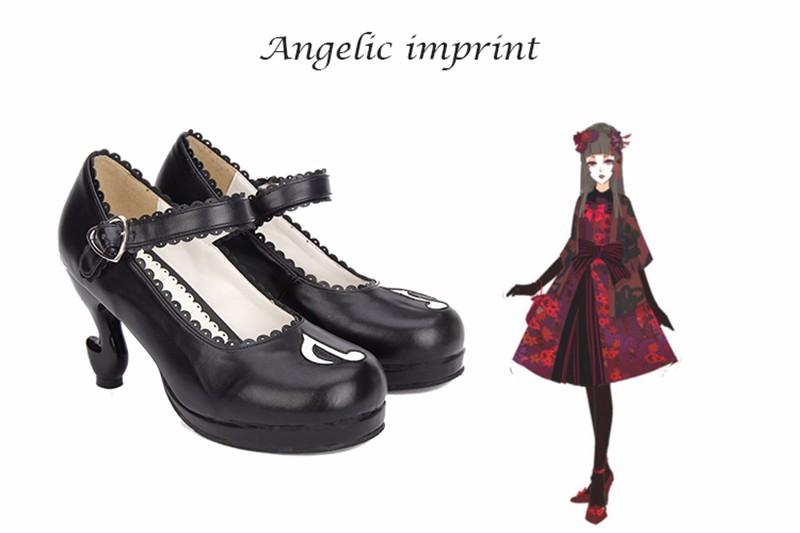 b8c95a810 ... Japanse Harajuku Doce Princesa Meninas Gravata Borboleta Duplo Straps  Chunky Salto Alto Sapatos LolitaUSD 36.62/piece