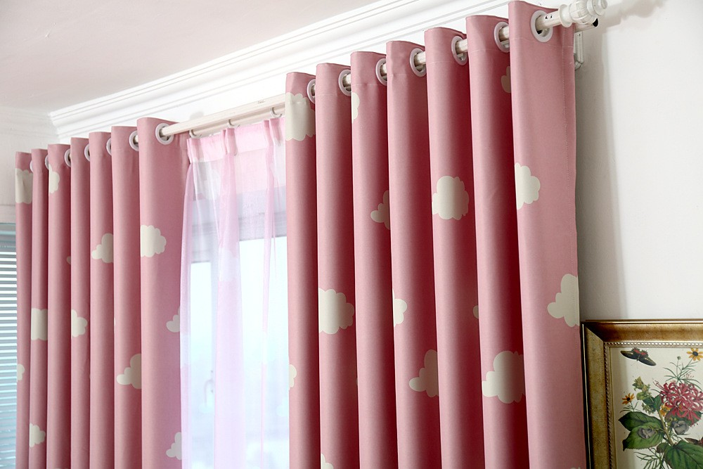 MYRU High Quality Baby Curtains, Childrens Cheap Blackout Curtains,Blue And  White Window Drapes,Kids Bedroom Curtains Clouds