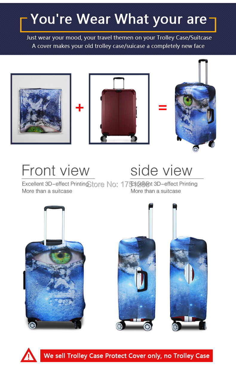 3b023bc1046e ... Suitcase Cover Luggage Wateroof Protective Cover Women Travel  Accessories Supply 18-30 inch Torrley Case ...
