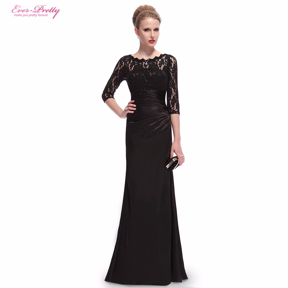 Evening Dresses HE09882 Ever Pretty Elegant 3/4 Sleeve