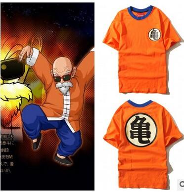 Dragon Ball Z Dbz Son Goku Uniform Anime Kame Symbol Costume Tshirt
