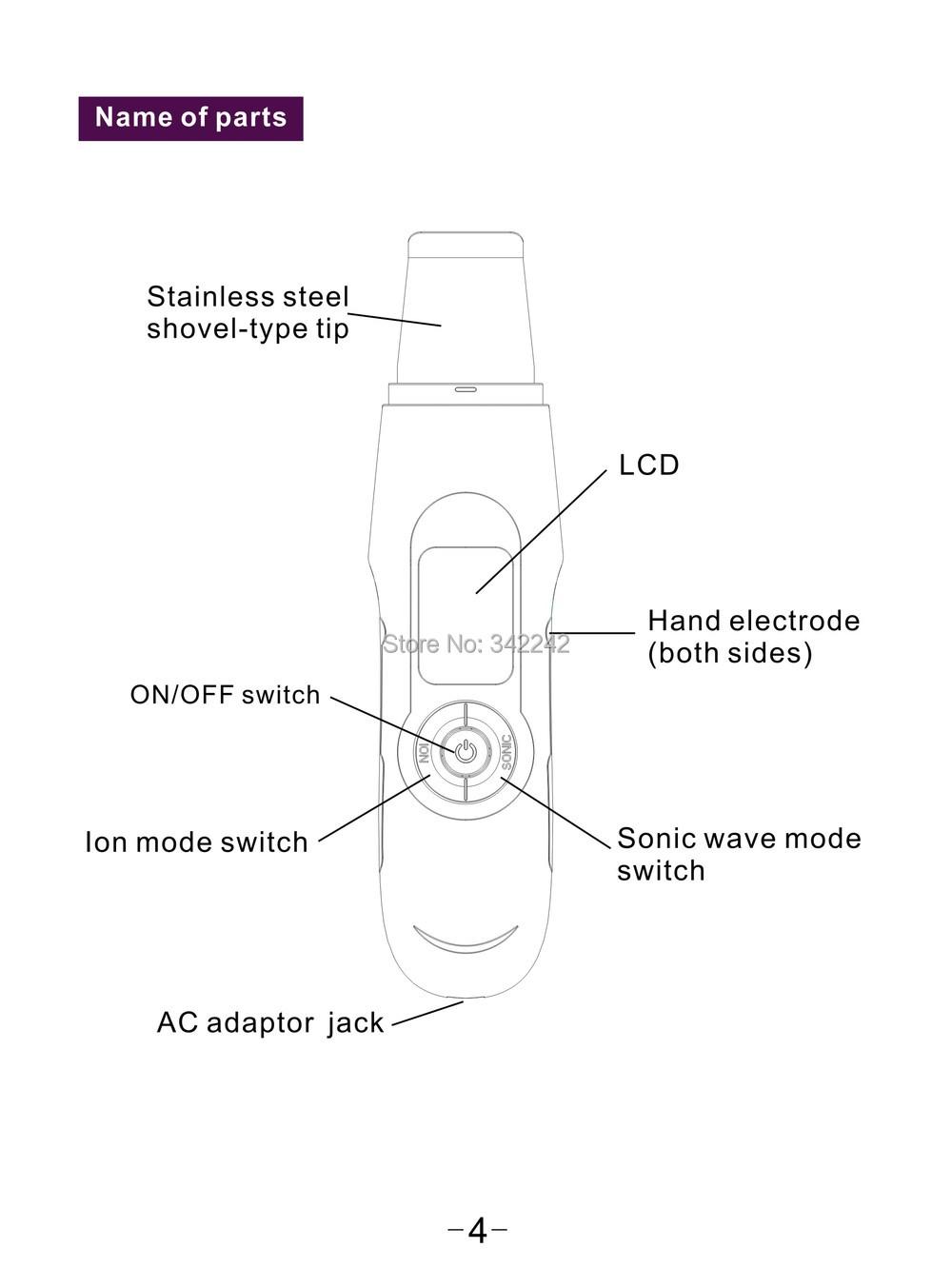 ✓Nouveau nettoyeur à ultrasons peau Spatule pour Peeling Doux, Peau ... 254982cf285b