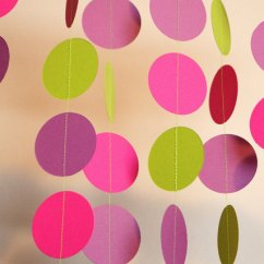 Hanging Chair Mr Price Easy Covers Buy Multicolor Handmade Paper Circle Flag Banner Garland Wedding Party Decoration ...