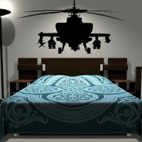 Removable Army Helicopter Sticker Bedroom Art Decal Boys ...